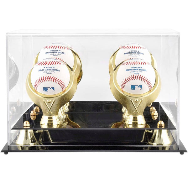 Golden Classic Four Baseball Logo Display Case
