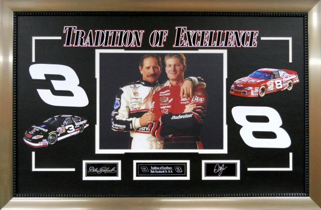 """Tradition of Excellence"" Earnhardt Sr. & jr. Framed Photo with Laser Signatures"