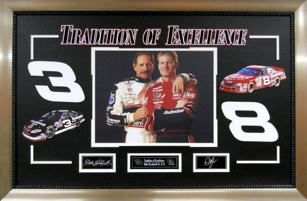 """Tradition of Excellence"" Earnhardt Sr. & jr. Framed Photo"