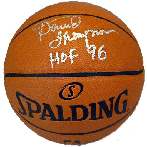 David Thompson Signed & Inscribed Basketball