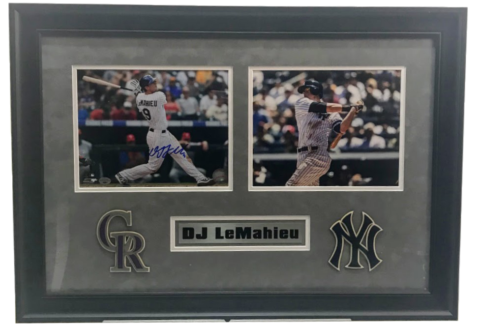 DJ LeMahieu Deluxe 2 Photo Collage - Latitude Sports Marketing