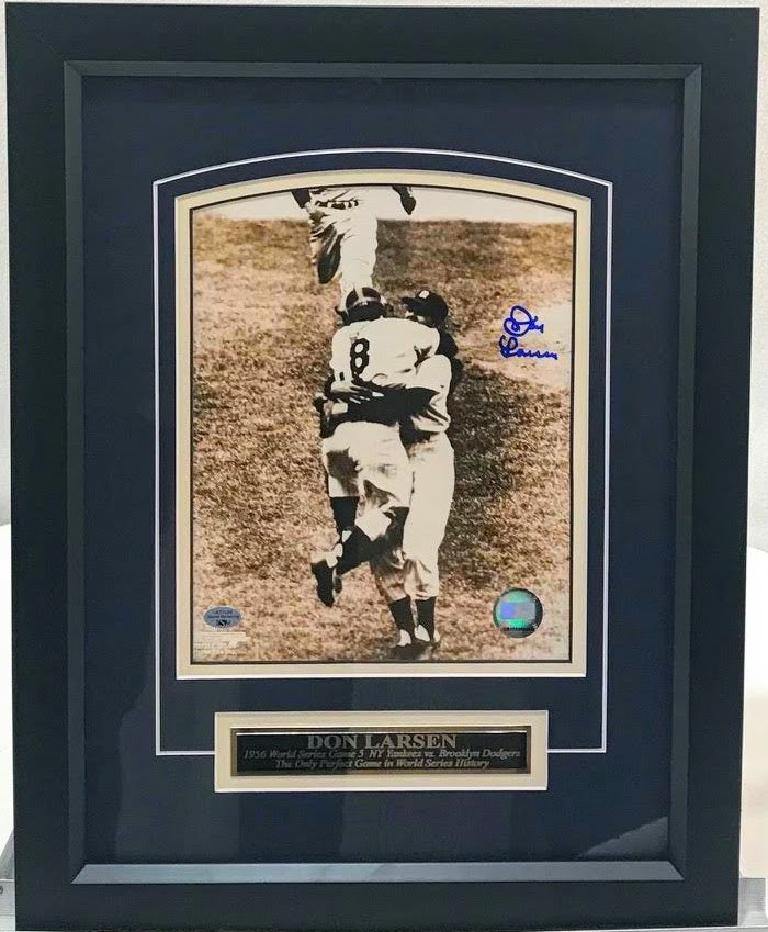 Don Larsen Signed and Framed 8x10 Photo