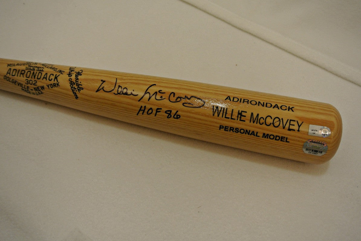 Willie McCovey signed bat