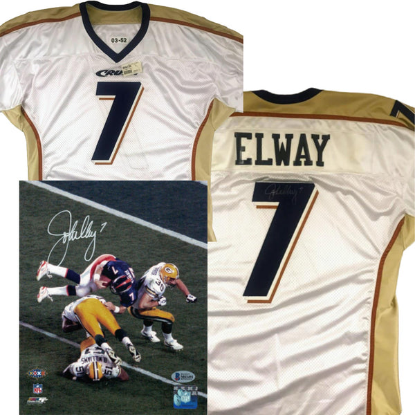 John Elway Autographed Colorado Crush American Classic Outfitters Jersey LSM COA Package
