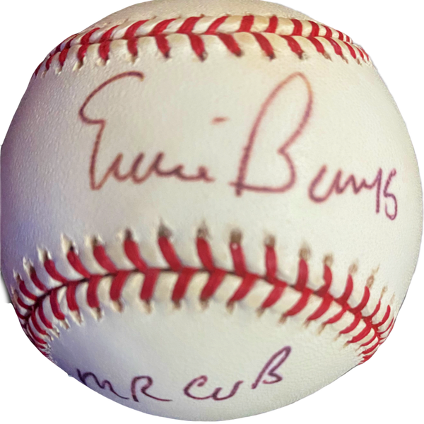 Ernie Banks Signed & Inscribed Baseball - Latitude Sports Marketing