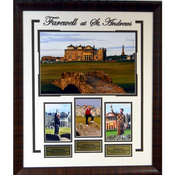 Farewell to St. Andrews Framed - Latitude Sports Marketing