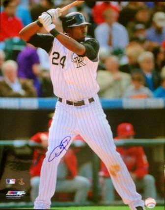 Dexter Fowler 16x20 Signed Photo - Latitude Sports Marketing