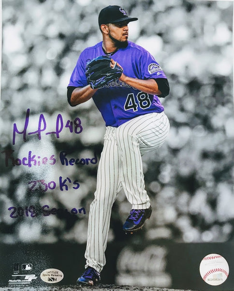 German Marquez Signed Rockies Record 230k's 2018 8x10 - Latitude Sports Marketing