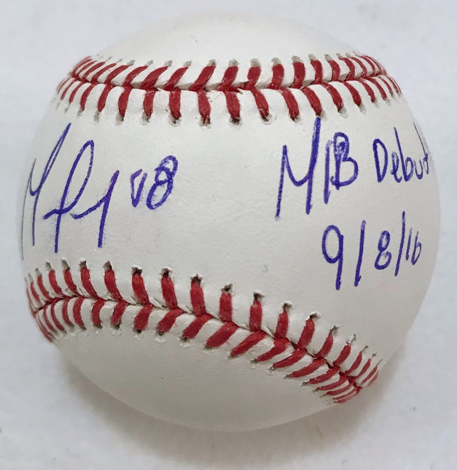German Marquez Signed MLB Debut Ball - Latitude Sports Marketing