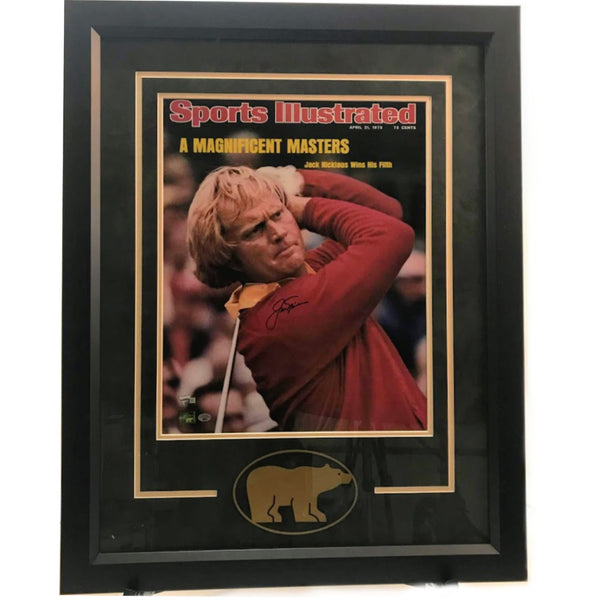 Jack Nicklaus Autographed 16x20 Sports Illustrated w/ Deluxe Frame