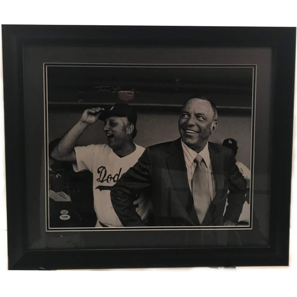Tommy Lasorda LA Dodgers Signed 16x20 (Black & White)