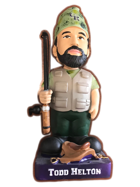 2014 Rockies Gnome Todd Helton Retirement Bobblehead - Latitude Sports Marketing
