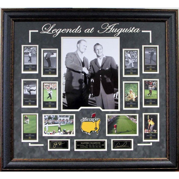 Jack Nicklaus and Arnold Palmer - Legends of Augusta Collage