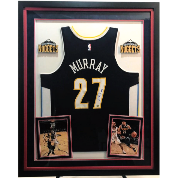 Jamal Murray Signed Jersey - Deluxe Frame (2 Logos)