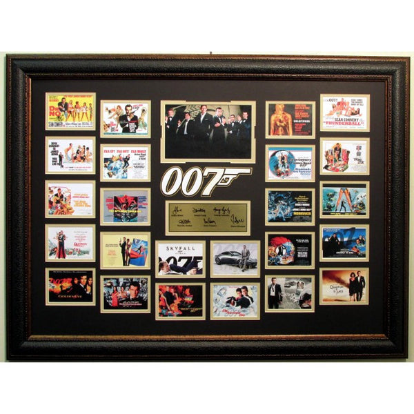 James Bond Movie Poster Collection with Laser Signatures - Latitude Sports Marketing