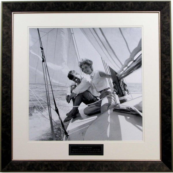 JFK & Jackie 20x20 Framed Photo