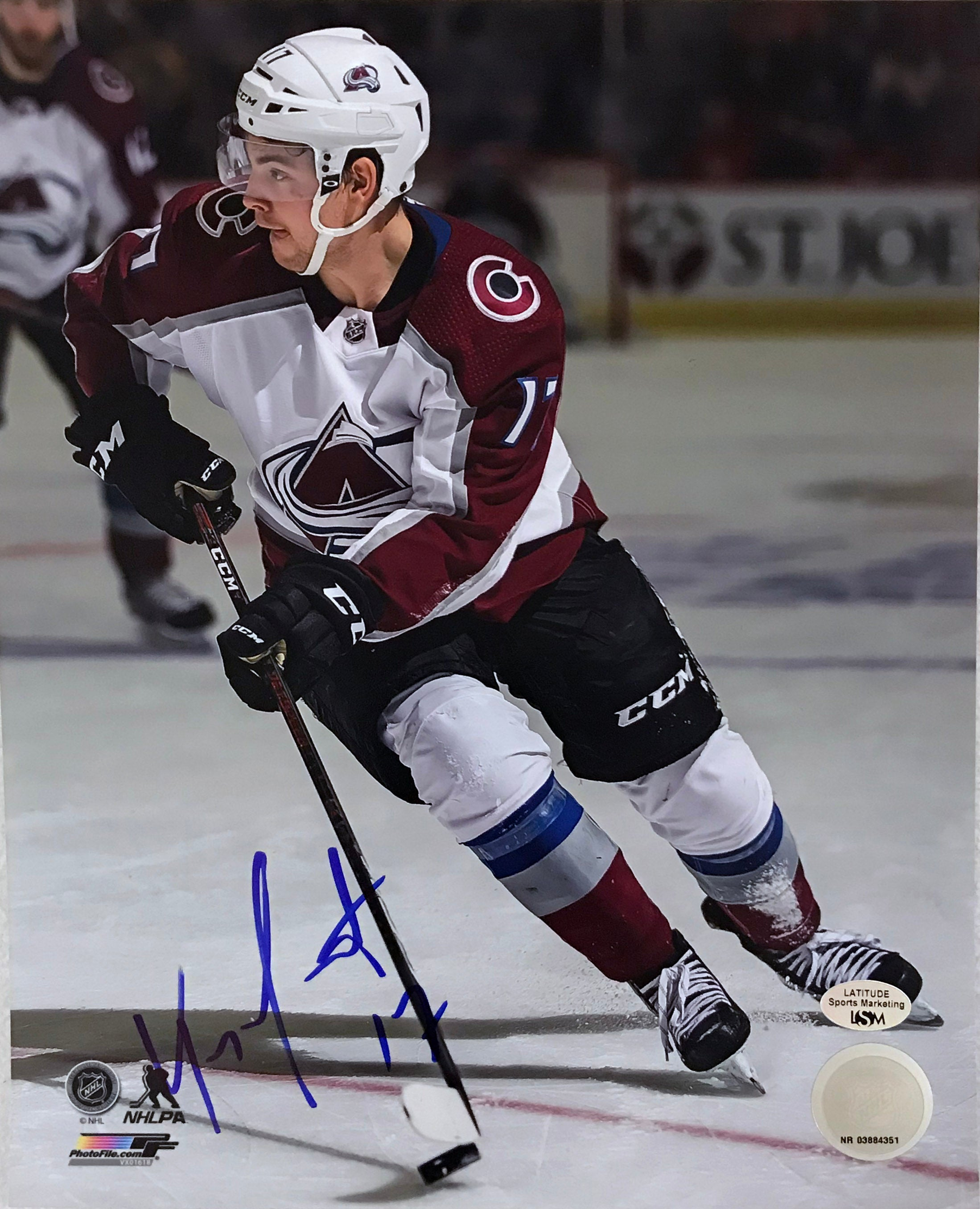 Tyson Jost Signed 8x10 Photo - Latitude Sports Marketing