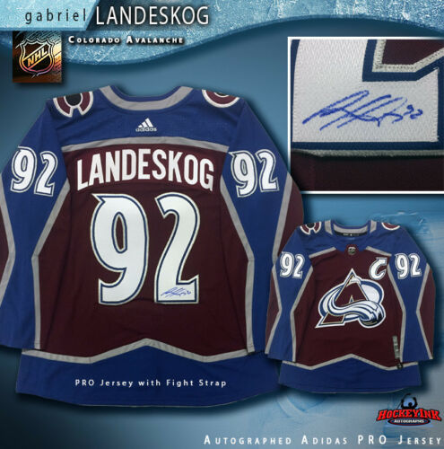Gabriel Landeskog Signed Authentic Burgundy Avalanche Jersey - Latitude Sports Marketing