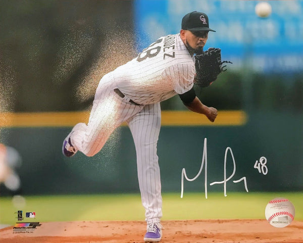 German Marquez Signed Throwing/White 8x10 - Latitude Sports Marketing