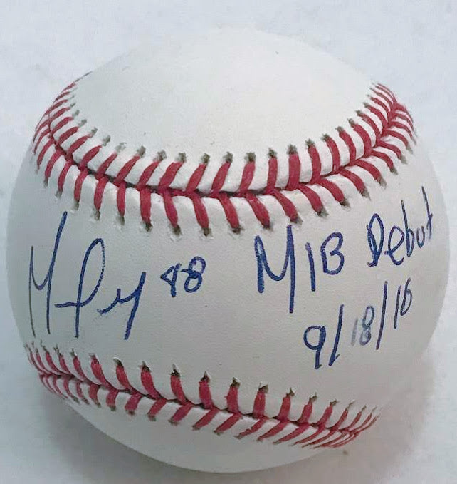 German Márquez Signed MLB Baseball (Wrong Date)