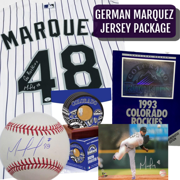 German Marquez Signed Jersey/White Package - Latitude Sports Marketing