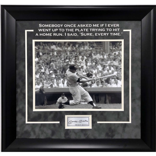 Mickey Mantle Framed 11x14 Quote Photo