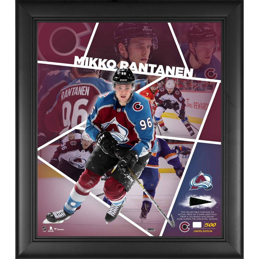 "Mikko Rantanen Colorado Avalanche Framed 15"" x 17"" Impact Player Collage with a Piece of Game-Used Puck - Limited Edition of 500"