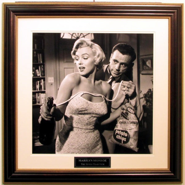 Marilyn Monroe Seven Year Itch Framed with Nameplate - Latitude Sports Marketing