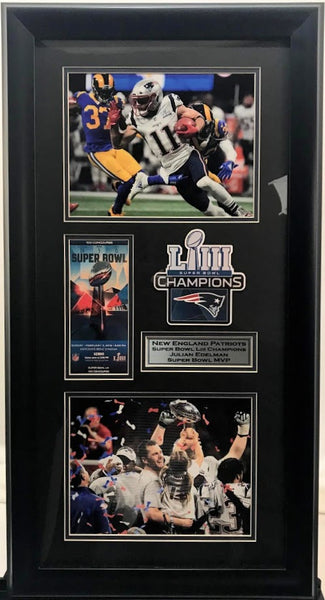 New England Patriots Super Bowl LIII Replica Ticket Collage - Latitude Sports Marketing