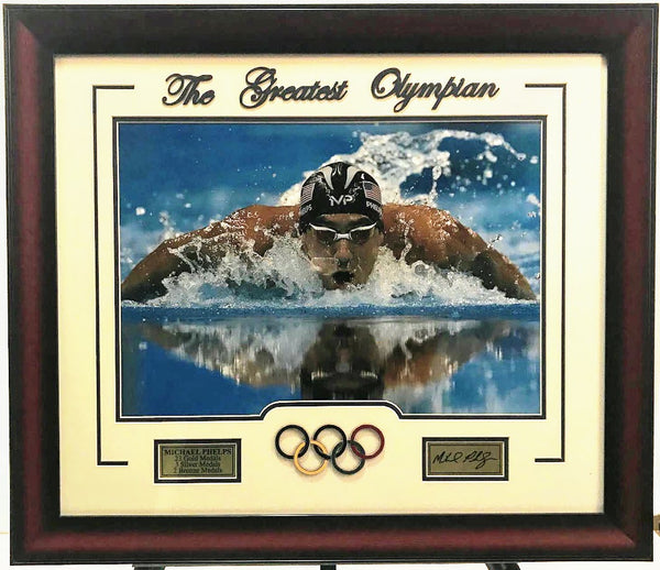 Michael Phelps Framed 16x20 with Laser Signature