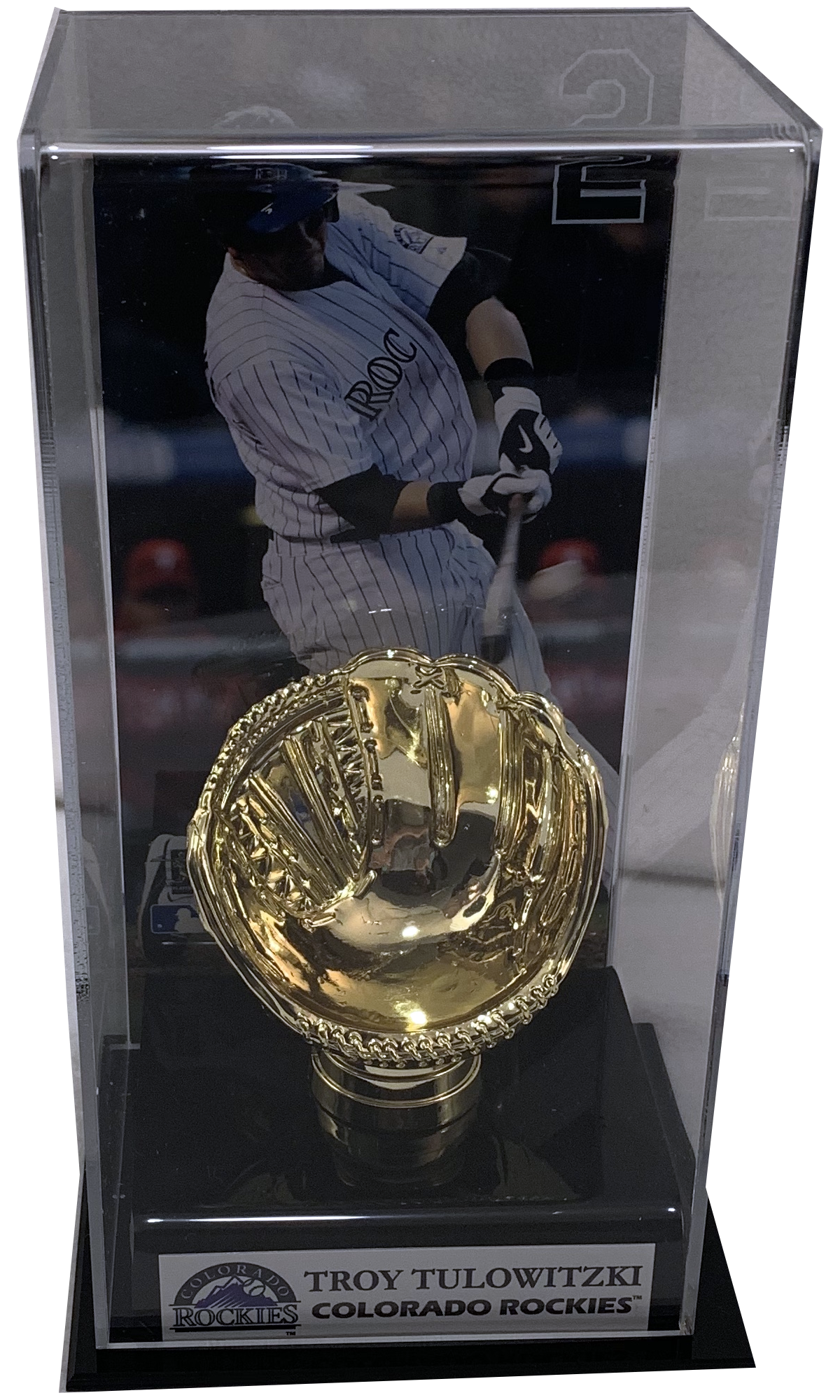 Troy Tulowitzki Deluxe Baseball Display Case (Rockies) - Latitude Sports Marketing
