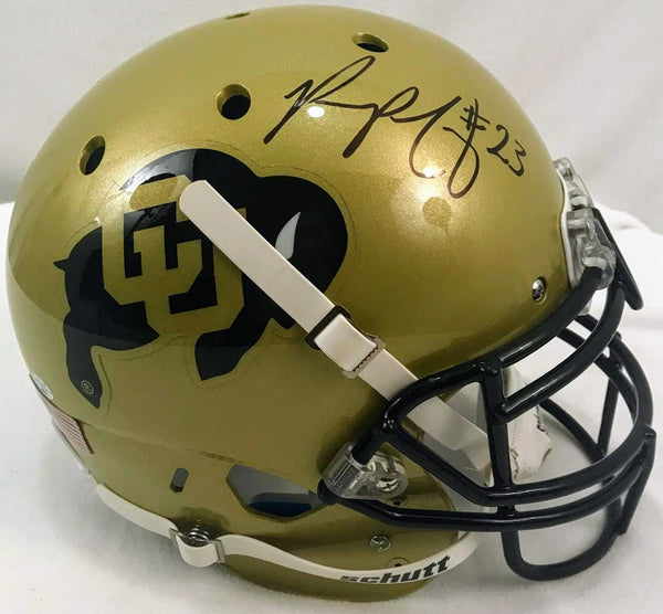 Phillip Lindsay Signed Colorado Full Size Helmet - Latitude Sports Marketing