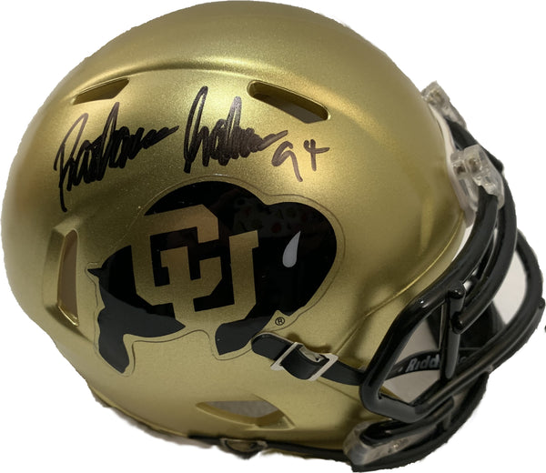 Rashaan Salaam Signed CU Mini Helmet - Latitude Sports Marketing