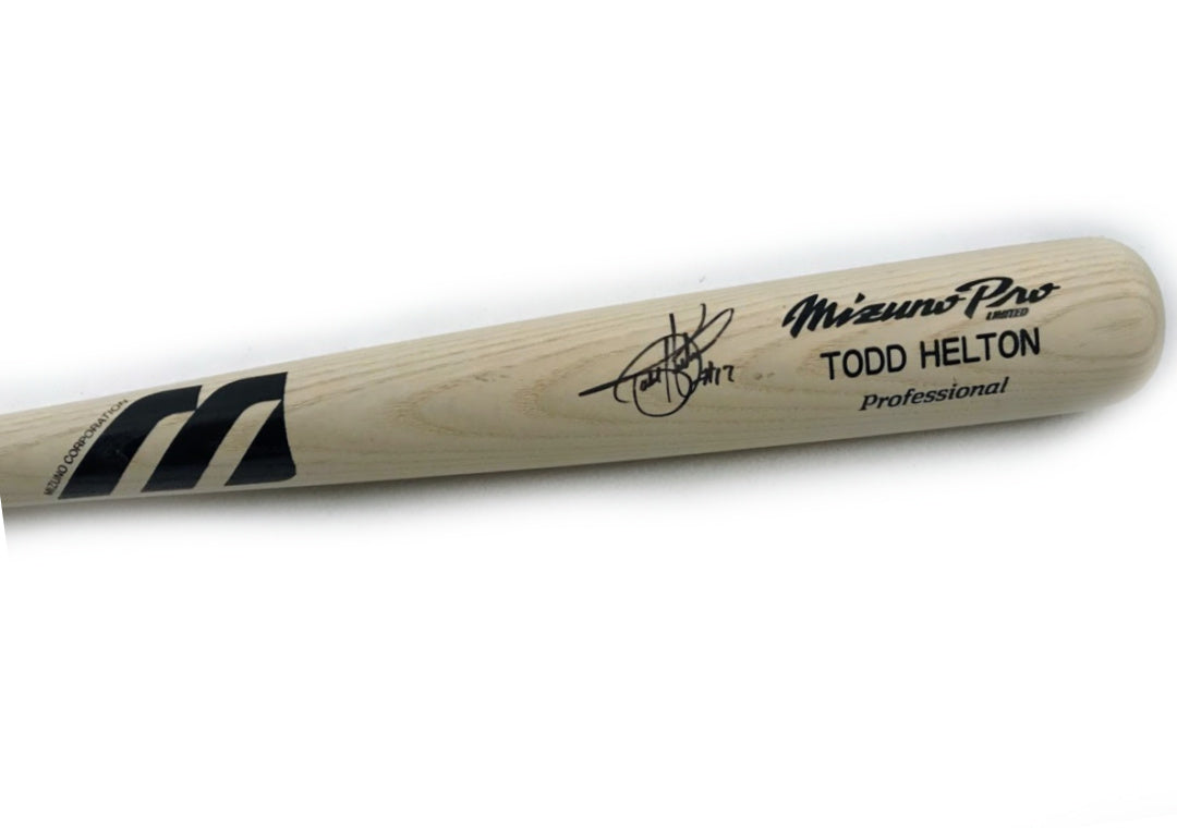Todd Helton Autographed Limited Edition Mizuno Pro - Latitude Sports Marketing
