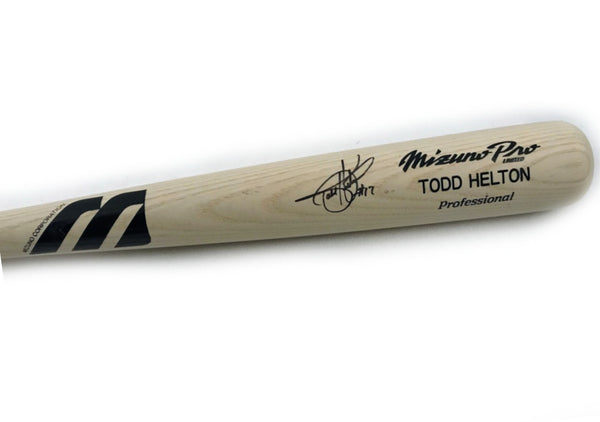 Todd Helton Autographed Limited Edition Mizuno Pro