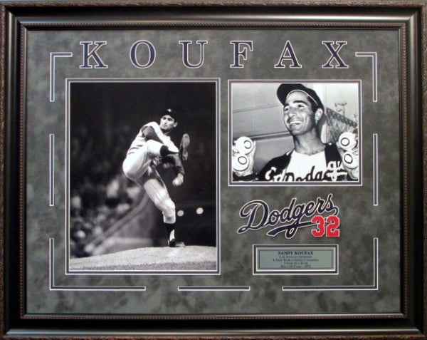 Sandy Koufax Dodgers Framed Photo Collage