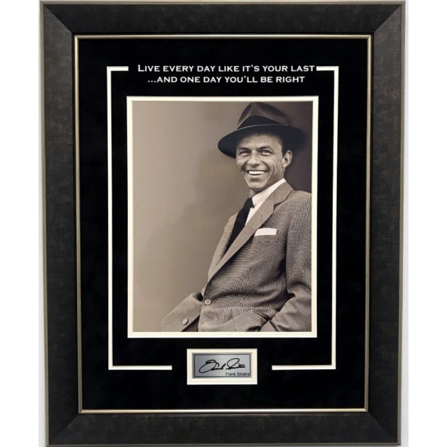 Frank Sinatra Framed 11x14 Last Day Quote w/ Laser Signature