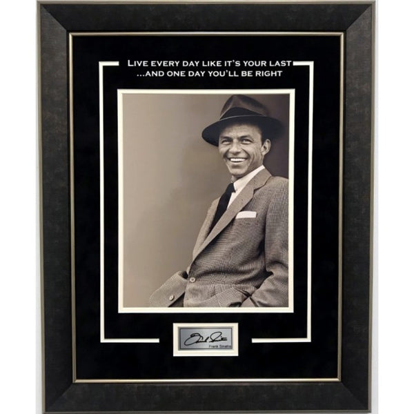 Frank Sinatra Framed 11x14 Last Day Quote