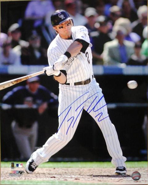 Troy Tulowitzki Hand Signed NLCS 16X20 Photograph (Blowout) - Latitude Sports Marketing