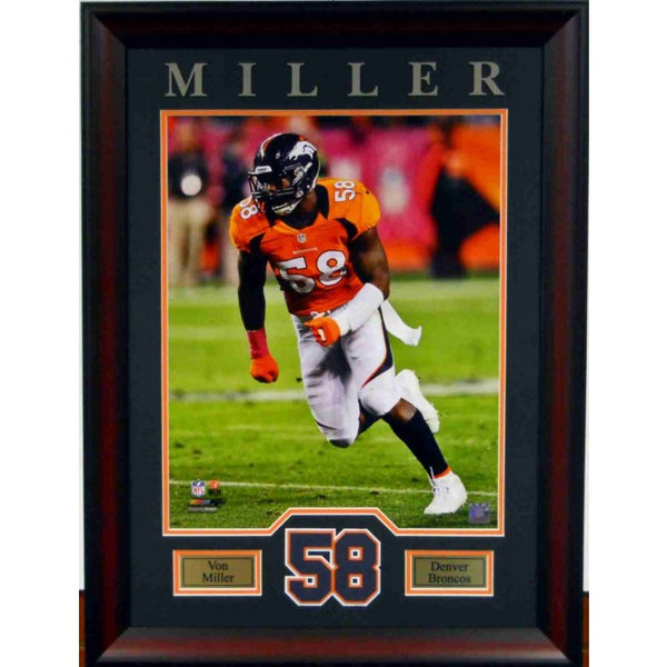 Von Miller 16x20 Framed Number Collage