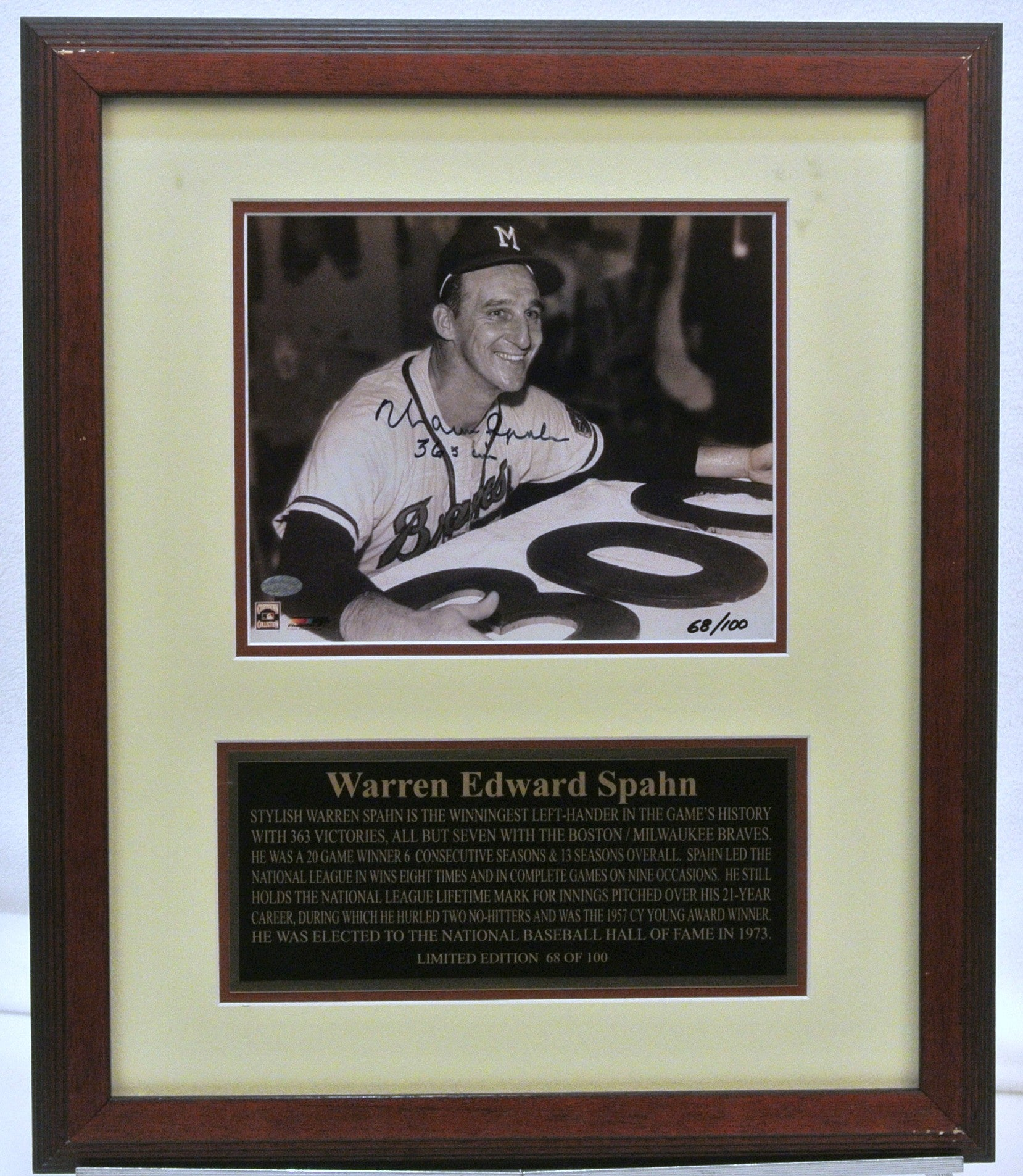 Warren Edward Spahn Photo Braves