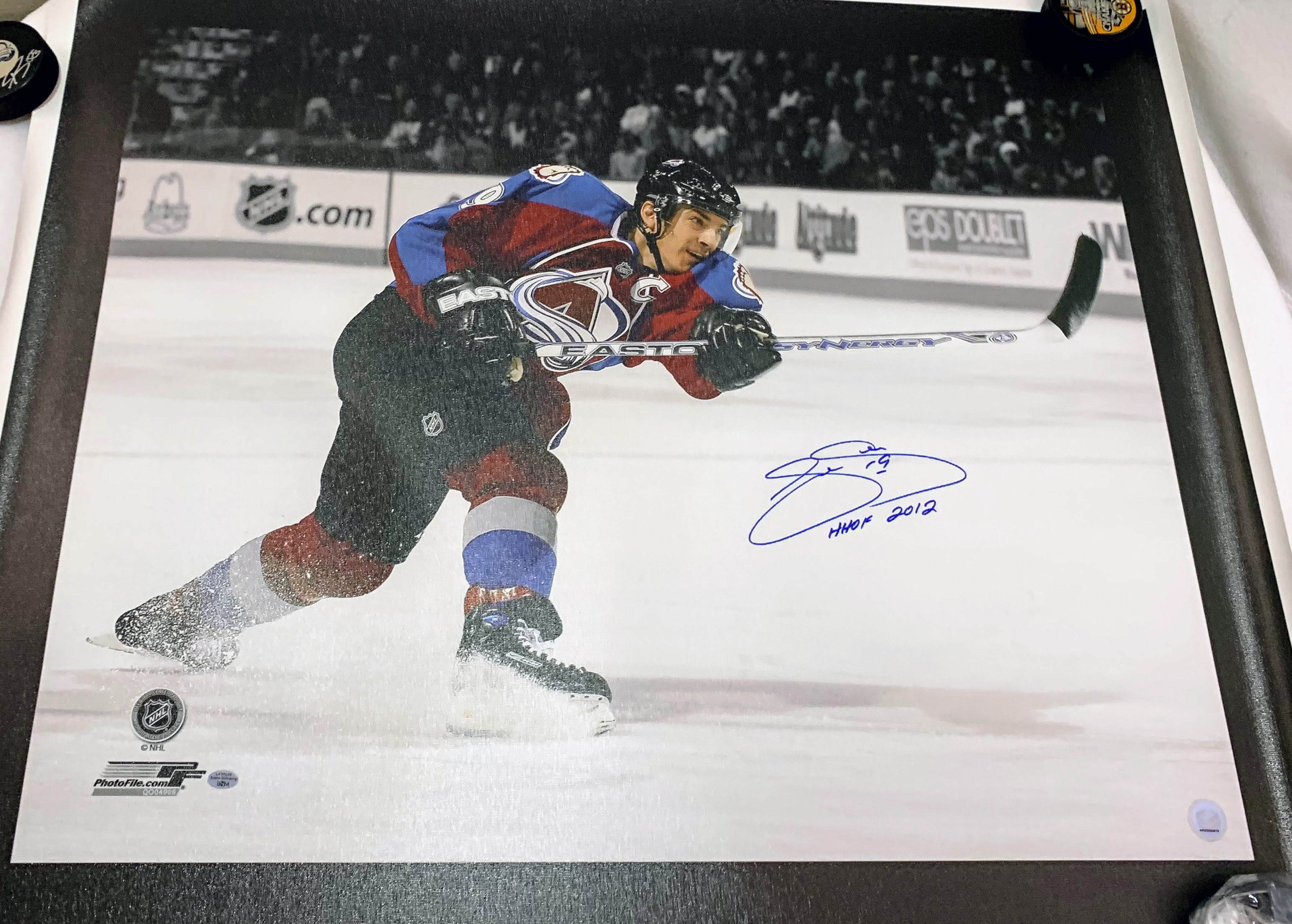 Joe Sakic Signed Canvas