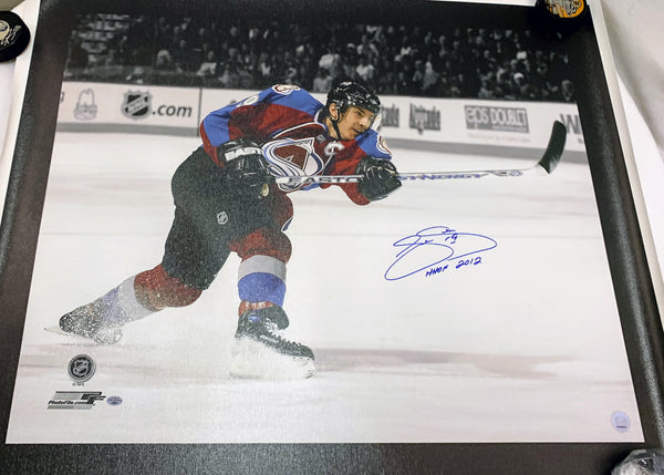 Joe Sakic Signed Canvas - Latitude Sports Marketing