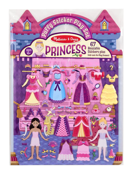 Puffy Sticker Play Set-Princess