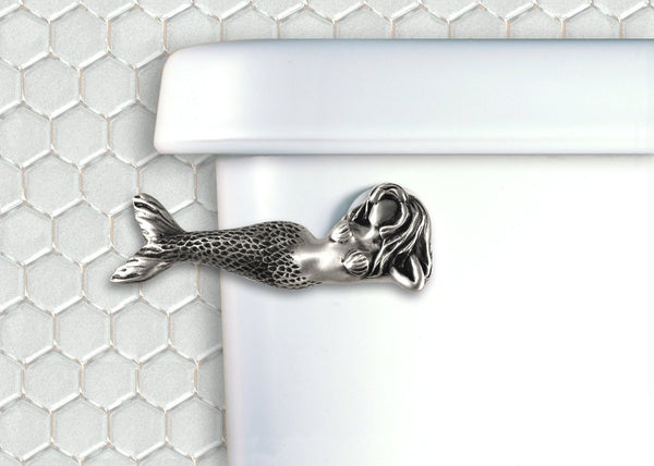 Toilet Flush Handle-Mermaid Laying Down