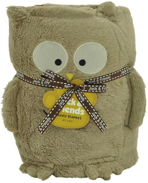Cuddly Animal Blanket-Owl