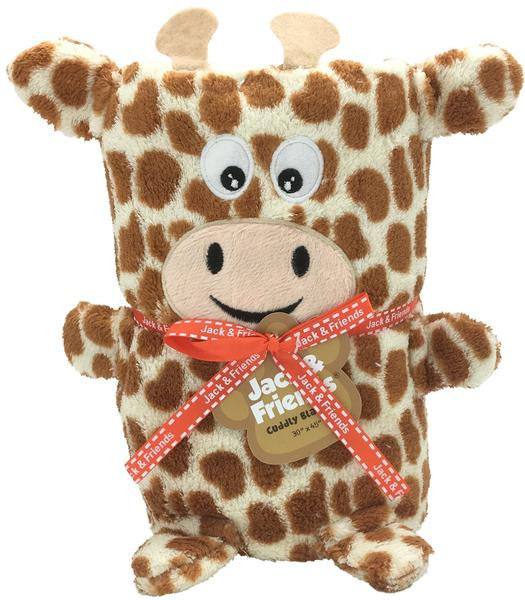 Cuddly Animal Blanket-Giraffe