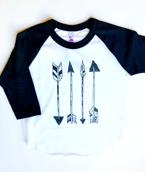 """Arrows"" Baseball Tee"