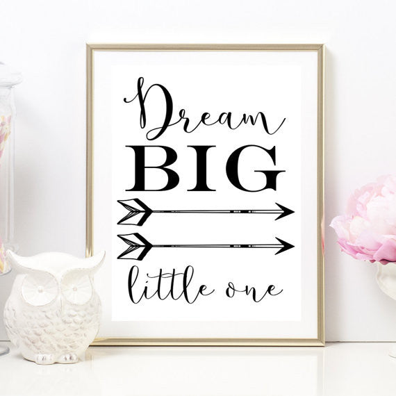 Dream Big Little One Nursery Artwork