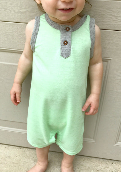 Light Green Tank Romper